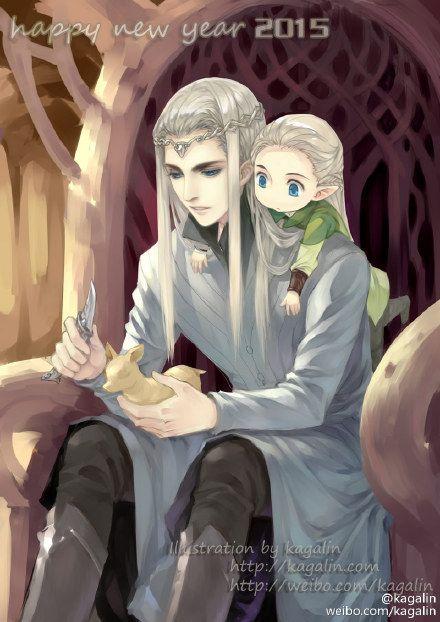 Thranduil and Legolas - Father Son Moment - kagalin的微博_微博