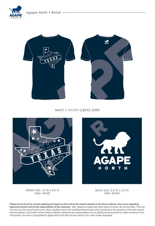 Agape North: Custom Apparel that Gives Back. #texas #retail #texasdesign