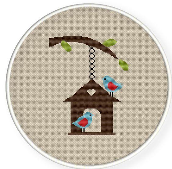 Etamin Şablonları Kuş Desenleri 10 - Mimuu.com