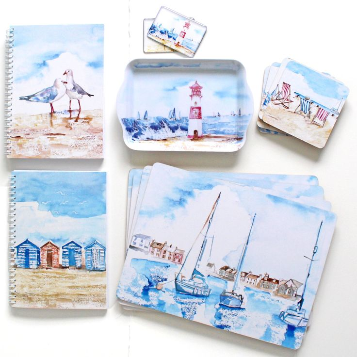 Beach Harbour Gift Collections by Jennifer Rose Gallery www.jenniferrose.gallery