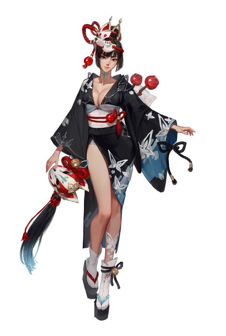Artstation talion japan costume_assassin largo art