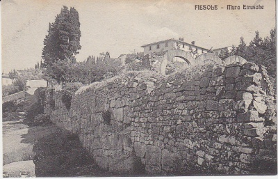Brunelleschi Postcard - Fiesole - 5222 - Mura Etrusche c1909