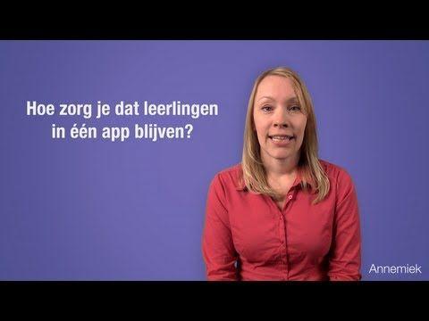 ▶ Hoe zorg je dat leerlingen in één app blijven? - YouTube