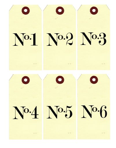 Printable Number Tags | 'i do'-it-yourself®