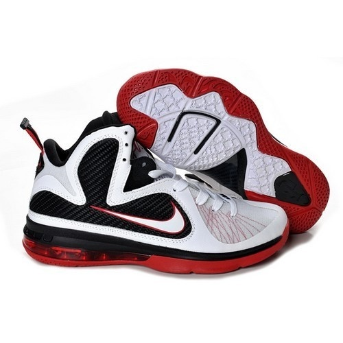 Nice Nike Air Max Lebron 9 VIIII Men White/Red-Black Basketball Shoes For
