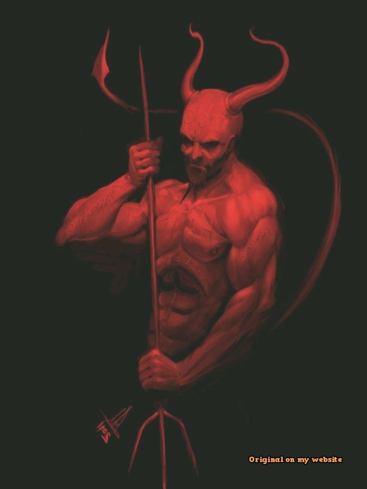 Realistic Devil Drawing : realistic, devil, drawing, Drawings