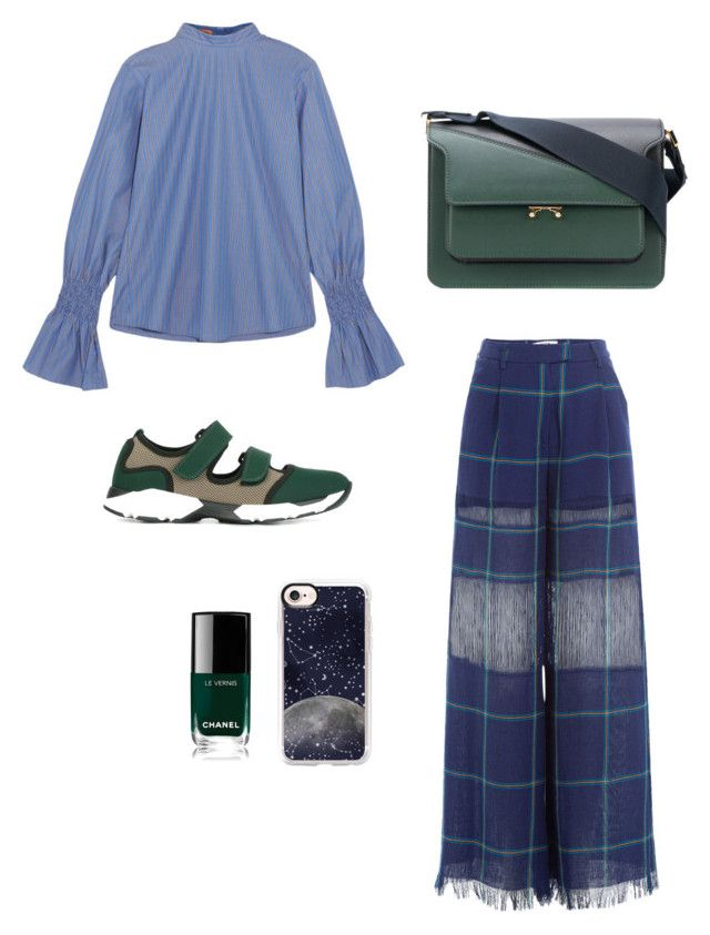 """""""Blue and Green"""" by oheytita on Polyvore featuring Maggie Marilyn, MSGM, Marni and Casetify"""