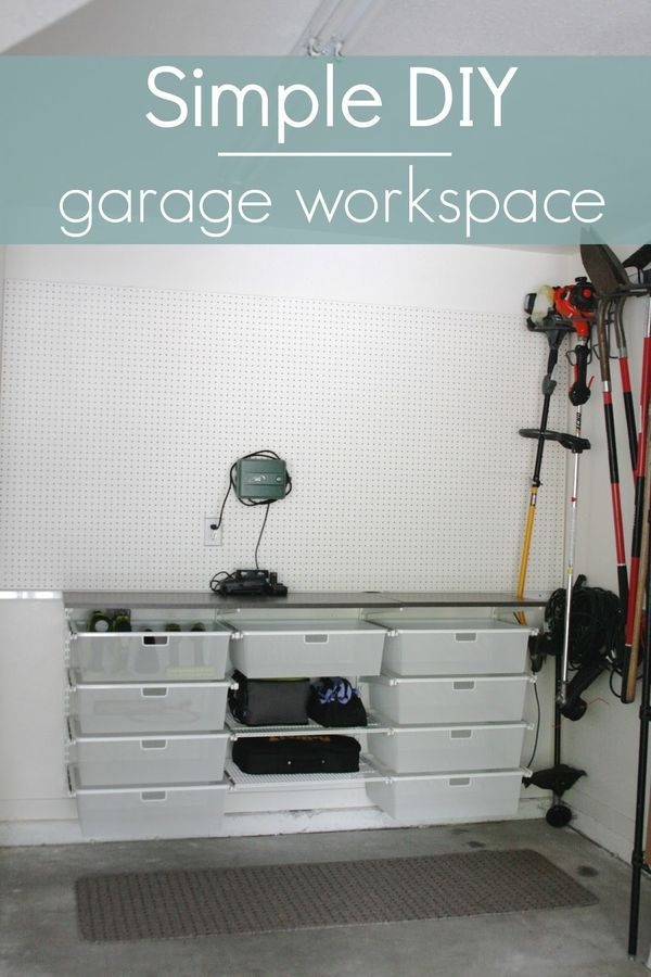 102 best garage organization images on pinterest garage garage workspace part 1 diy solutioingenieria Choice Image