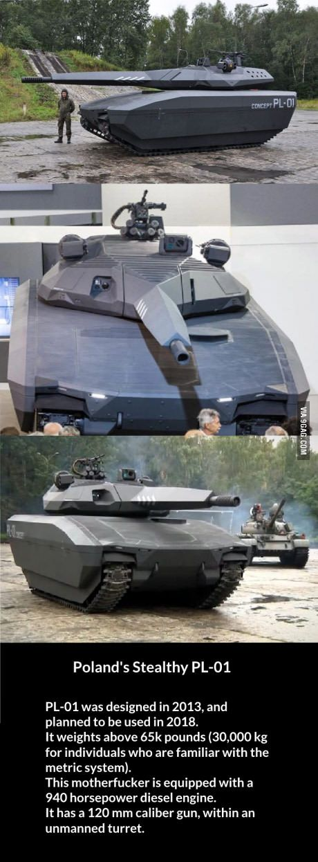 PL-01 Polish armored fighting vehicle.