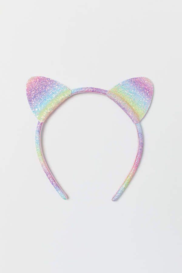 Hot Reversible Sequins Headband Unicorn Horn Decor Hairband For Girls Princess