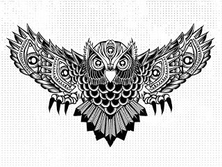 polynesian Owl Tattoo | Owl Tattoo Designs