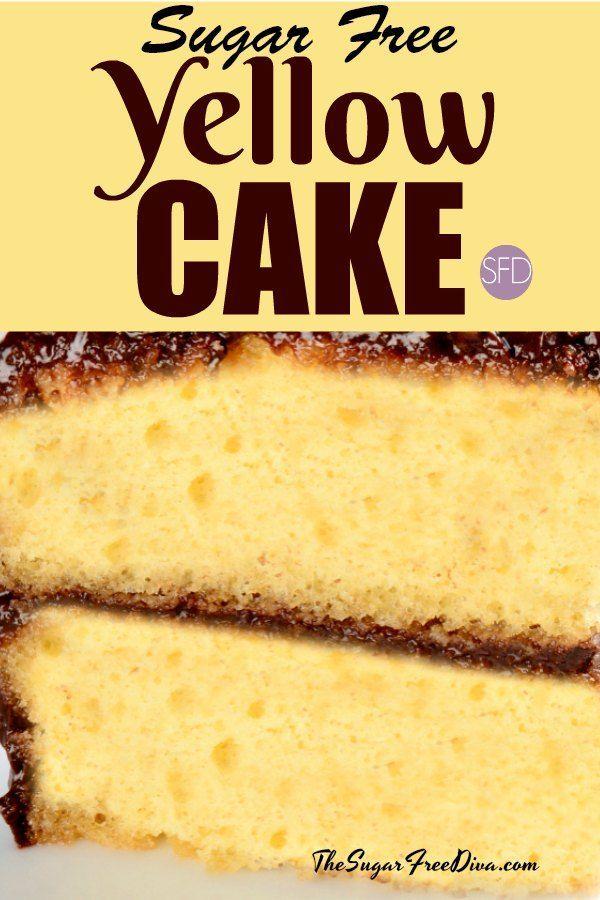Sugar Free Yellow Cake Sugarfree Diabetic Cake Dessert Recipe