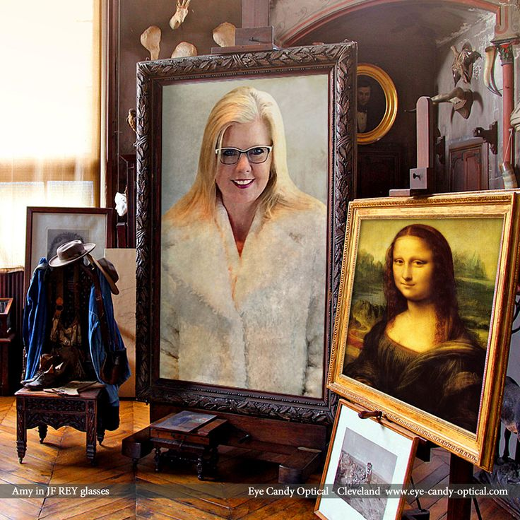 Amy is worth of a masterpiece in her new designer glasses by JF Rey. Mona Lisa has nothing on Eye Candy's finest European Eyewear Fashion! Eye Candy Optical Cleveland – The Best Glasses Store! (440) 250-9191 - Book an Eye Exam Online or Over the Phone  www.eye-candy-optical.com
