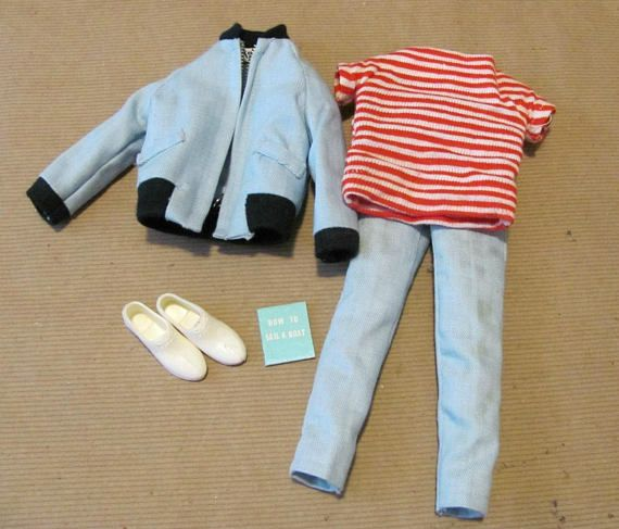 Vintage Ken Clothing 1960 S Ken Outfit The Yachtsman Etsy Light Blue Pants Clothes Outfits