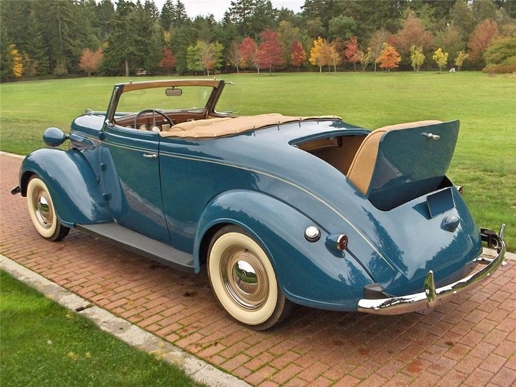1937 Plymouth Roadster Deluxe Convertible With Rumble Seat Social More Upper Class Car For The People That Stayed Rich During Great Depression Which