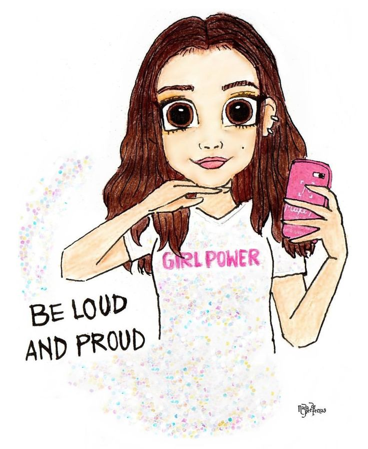 """A Strong Woman is Inspiration! """"I would say it's always good to be yourself,"""" G say. """"My mom always says, 'be loud and proud!' I love that!"""" - Genevieve Hannelius. A drawing of the POWERFUL @GHannelius! She inspired me always! ✨ #girlpower..."""