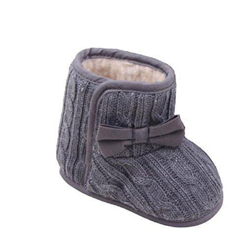 Oferta: 1.83€. Comprar Ofertas de Zapatos de bebé,Xinantime Bowknot Suave Invierno Zapatos Calientes Botas (11, Gris) barato. ¡Mira las ofertas!