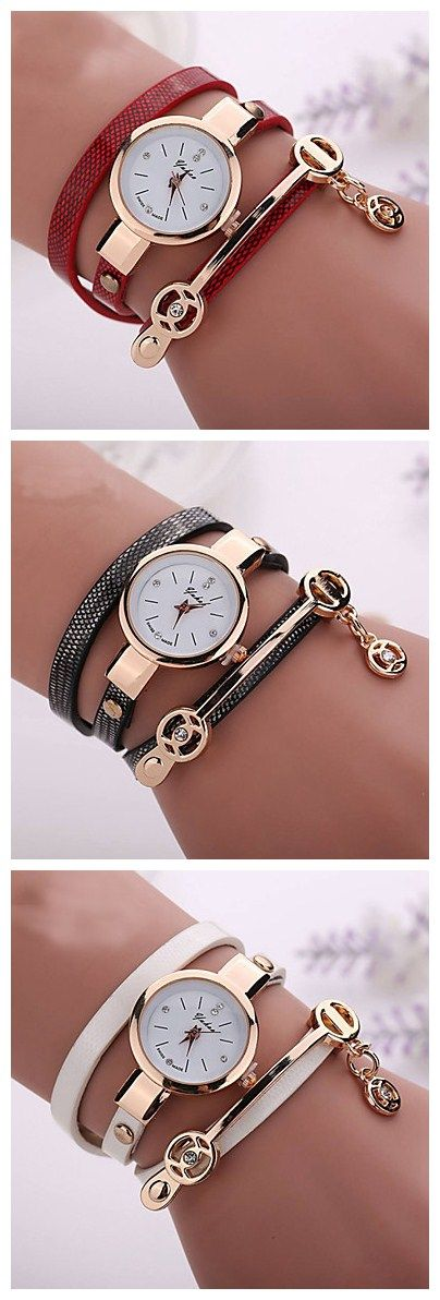 Love this metal combo chain watch