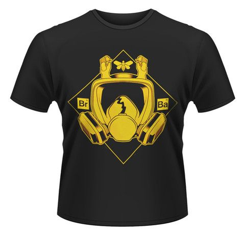 Plastic Head Mens Breaking Bad Mask Crew Neck Short Sleeve T-Shirt X-Large  Black @ NiftyWareHouse