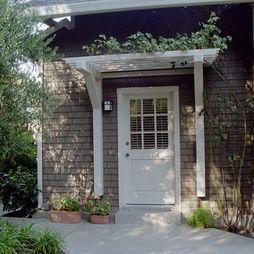 pergola over door.  Perfect for the future back door to the future back deck....