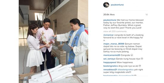 Pauleen Luna and Vic Sotto welcome 2016 with house blessing #RagnarokConnection