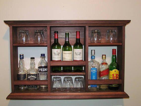 Mini-Bar sin estante de vidrio de vino licor gabinete estilo