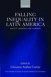 Falling inequality in Latin America (PRINT VERSION) http://biblioteca.cepal.org/record=b1212336~S0*spi The volume aims to document and explain the sizeable decline of income inequality that has taken place in Latin America during the 2000s. It does so through an exploration of inequality changes in six representative countries, and ten policy chapters dealing with macroeconomics, foreign trade, human capital formation, and social assistance, which point to the emergence of a 'new policy…