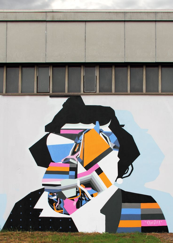 Tobias Kroeger aat UKIF – Urbane Kunst im Fluss, 2016, Graffiti, Mural, Urbanart, Contemporary, Abstract