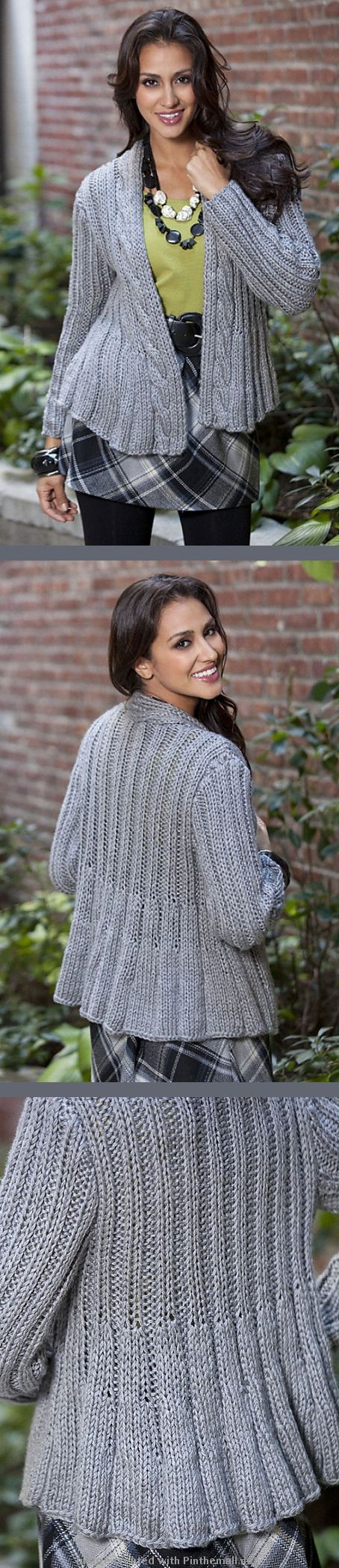 424 best Knit Shawls/Sweaters/Vests/ect. images on Pinterest | Knits ...