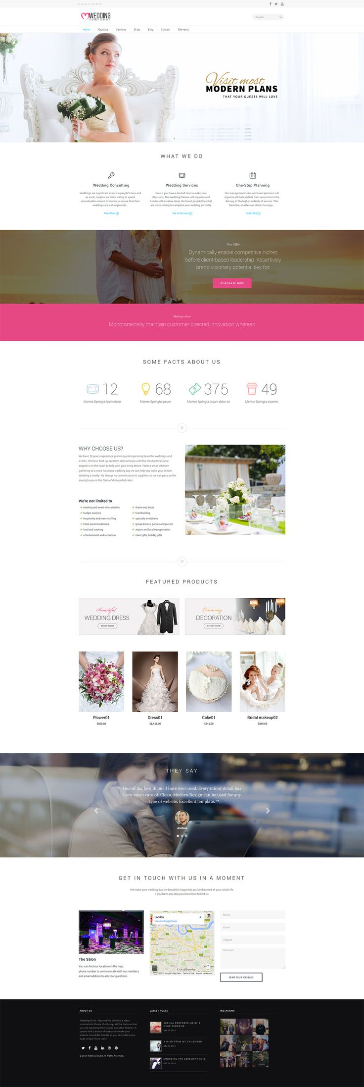 Wedding Suite - WordPress Wedding Theme #wedding #website #web #webdesign [www.pinterest.com/loganless/]