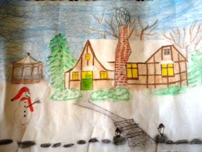 """Hüseyin Güllüoğlu İ.Ö.O """"Manzara resimleri"""" 6.sınıflar"""