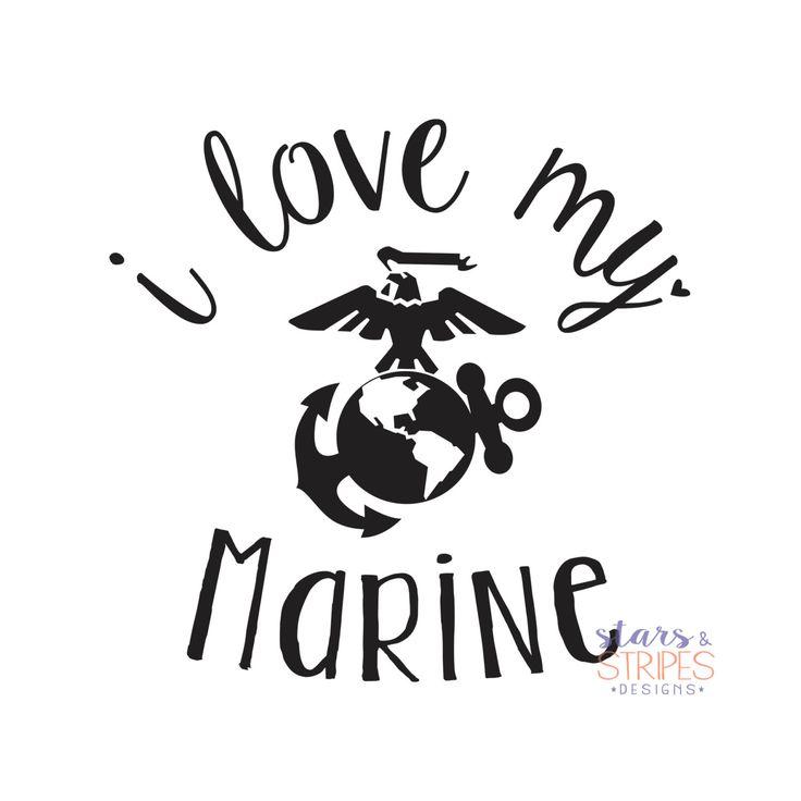 I Love My Marine Love Decal. USMC Hero America Patriotic. Milso wife fiance girlfriend mom sister daughter. Homecoming Deployment Veteran  https://www.etsy.com/listing/255998629/i-love-my-marine-love-decal-usmc-hero