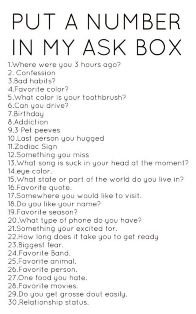 Sexual questions to ask a girl tumblr
