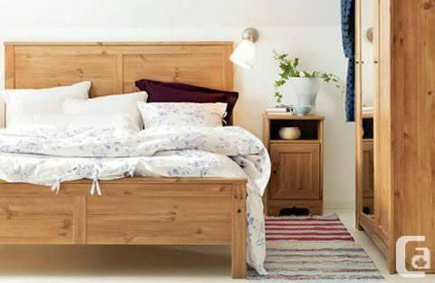 Ikea ASPELUND bed frame (Queen size) for 70 Country