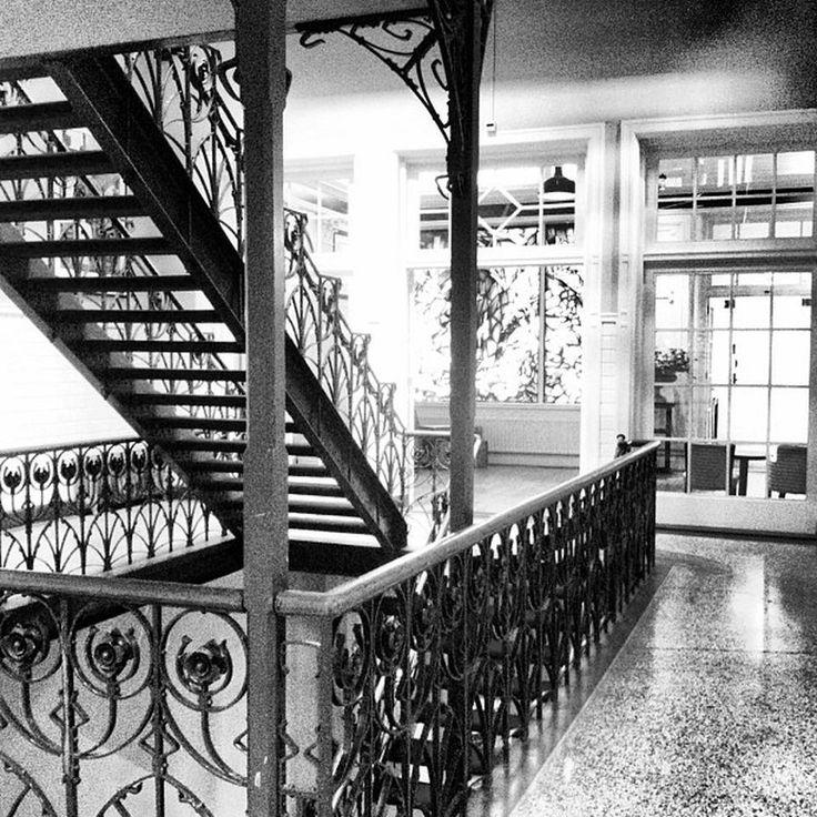 Stairs and hallway at Hotel New York - Rotterdam www.hotelnewyork.nl