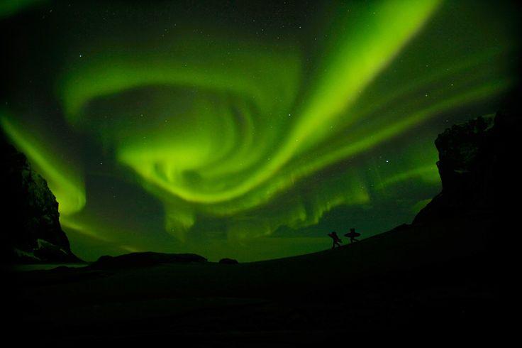 Aurora in tundra