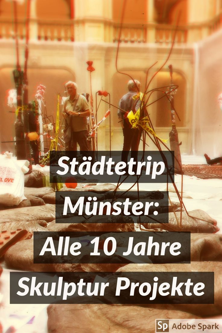 Alle 10 Jahre ist #Münster voll mit #Skulpturen. Dann lohnt sich ein Ausflug doppelt.
