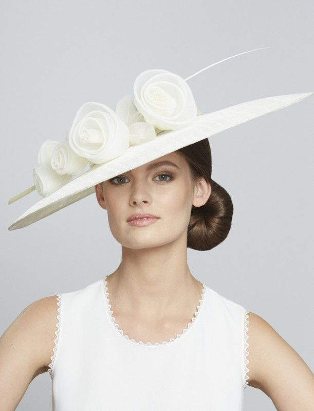 Juliette Botterill Millinery | Silk Organza Rose Wide Brim | Ivory and Wide Brim Hats | LOVEHATS.COM