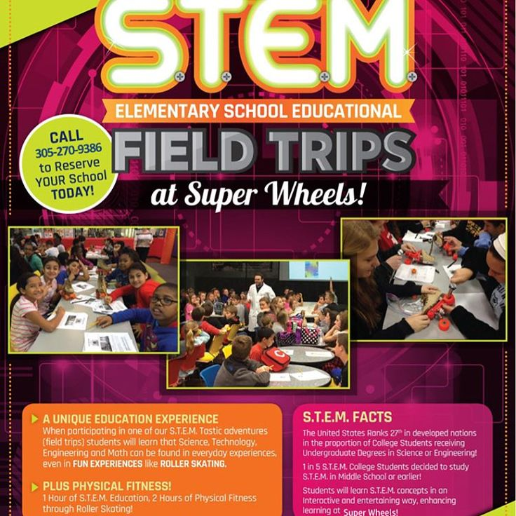 This school year is all booked up. Contact us for the 2017-2018 school year.  STEM at Super Wheels Skating Center Super Wheels Skating Center   12265 SW 112TH STREET Miami, FL 33186   Phone: 305-270-9FUN  http://www.superwheelsmiami.com/MOBILE/STEM/index.html  #miami #kendall #skating #skatelife #rollerskating #rollerblading #rollerrink #superwheelssk8 #superwheelsmiami #travel #skatingrink #fun #entertainment #stem http://tipsrazzi.com/ipost/1512005127790990163/?code=BT7uKccjRNT