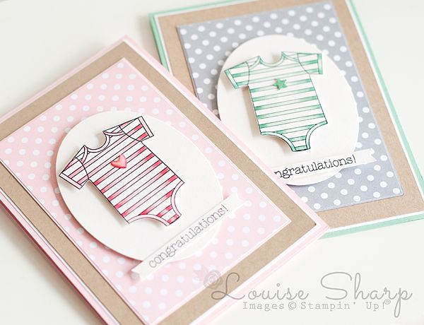 Stampin' Up!   Made With Love Baby!   By Louise Sharp