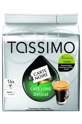 CAFETIèRE TASSIMO DOSETTES CARTE NOIRE LONG DÉLICAT