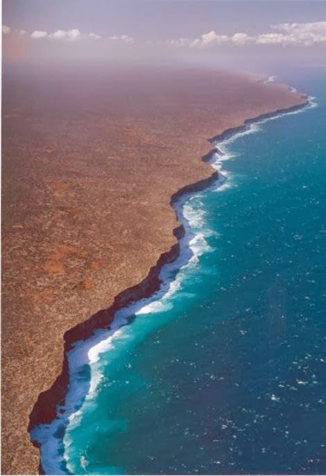 Corfu Weather & News: Nullarbor-Εκεί όπου τελειώνει η Γή South Australia coast, Nullarbor, Bunda Cliffs: Where the Earth ends and endless water spreads in front of your eyes..