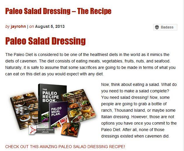 Paleo Salad Dressing – The Recipe | Jay Rohn Empower Network Blog | Awesome Screenshot