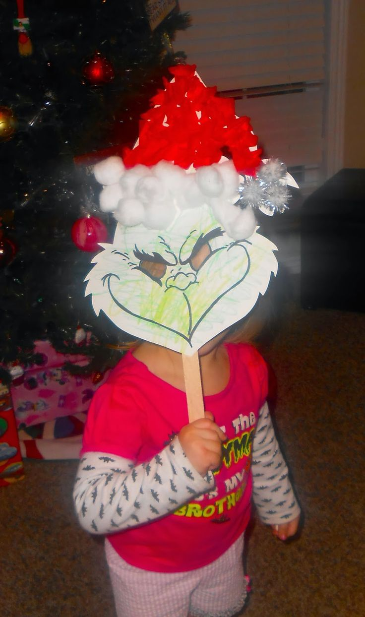 The Keeper of the Cheerios: DIY Kids Grinch Mask