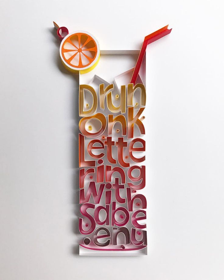 New Typographic Paper Artworks by Sabeena Karnik – Inspiration Grid   Design Inspiration #type #typography #typographyinspired #lettering #typographyinspiration #paper #paperart #paperartwork #papercut #inspirationgrid