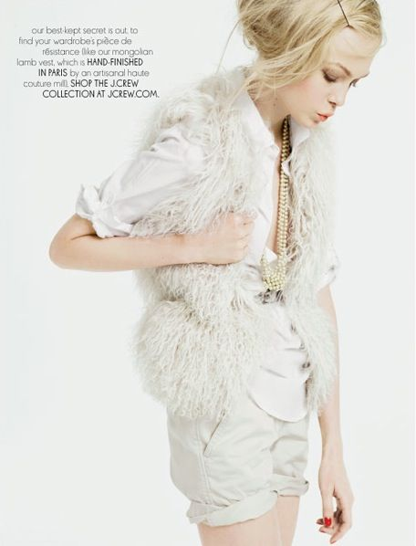 J. Crew: Crew Jesus, Jcrew White, Crew Inspiration, Crew August, Style Inspiration, Jcrew Fall, Fresh Fashion, Crew Catalog, Fur Vest