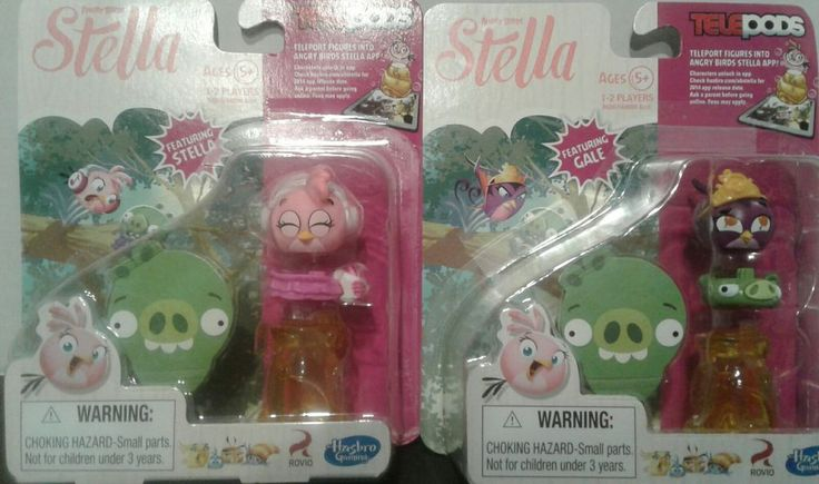 Angry Birds Stella Telepods Set 2 Pink Bird Purple Gale
