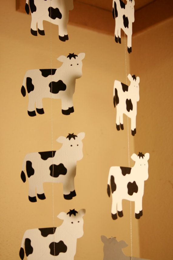 Cow Garland, Cowboy Party, Barnyard Party, Cow Party, on Etsy, $14.00
