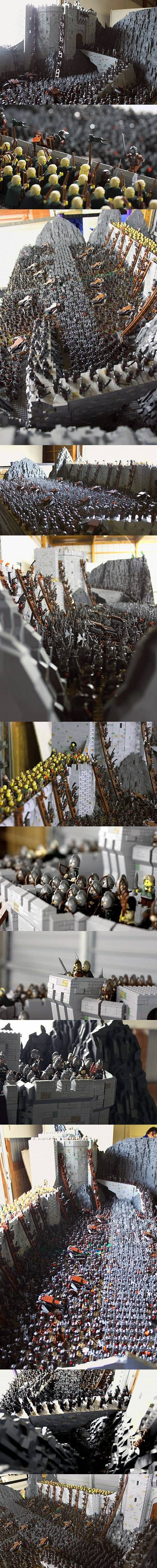 LEGO master recreates Lord of the Rings Battle of Helm's Deep with 150,000 bricks.