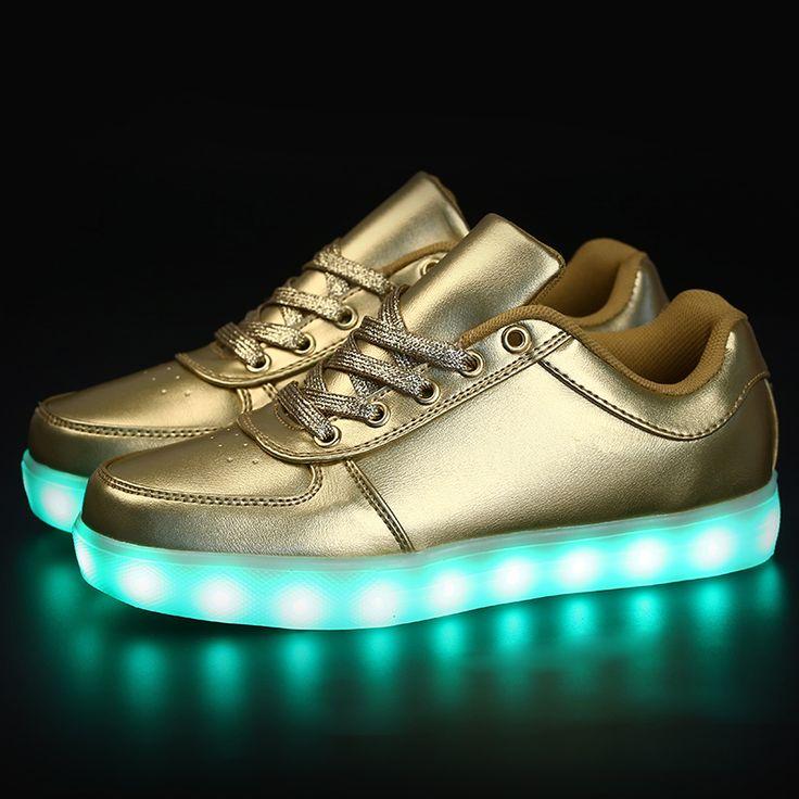 $15.91 (Buy here: https://alitems.com/g/1e8d114494ebda23ff8b16525dc3e8/?i=5&ulp=https%3A%2F%2Fwww.aliexpress.com%2Fitem%2Ftenis-led-shoes-women-men-masculino-esportivo-zapatillas-deportivas-mujer-glowing-sneakers-lights-luminous-com-led%2F32708338982.html ) led shoes zapatillas deportivas mujer tenis shoes men women hombre feminino zapatos masculino esportivo shoe Gold silver for just $15.91